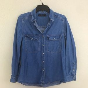 ZARA Jean Shirt